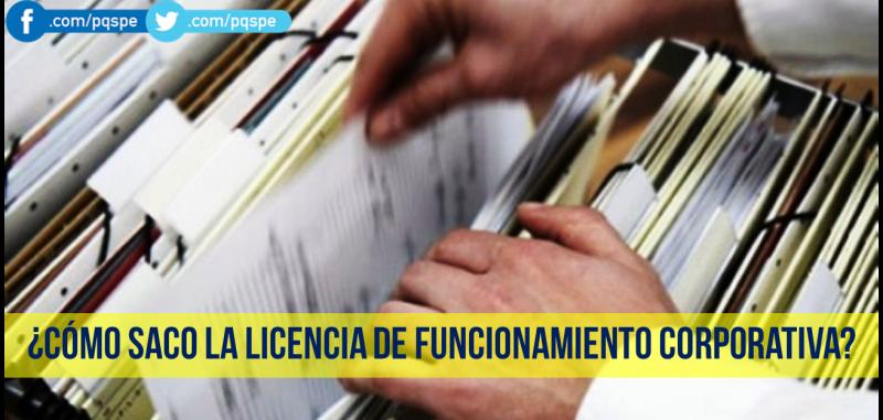 licencia de funcionamiento corporativa