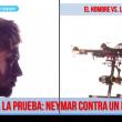 neymar vs dron