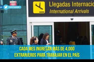 Extranjeros trabajando en el Perú