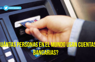 Cantidad de cuentas bancarias en el mundo