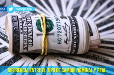 Diferencia entre tipo de cambio nominal y real