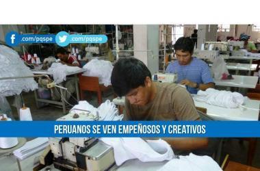 Peruanos se consideran empeñosos y creativos, según estudio
