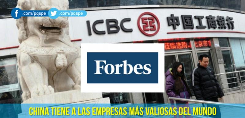 PQS: Las empresas más valiosas del mundo, Forbes