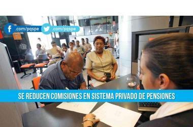 AFP, sistema privado de pensiones, comisiones, sbs, pensiones