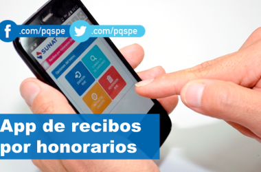 SUNAT presenta app para emitir recibos por honorarios