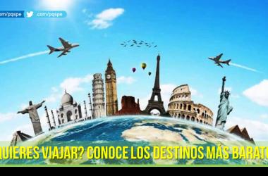 PQS: destinos turísticos baratos