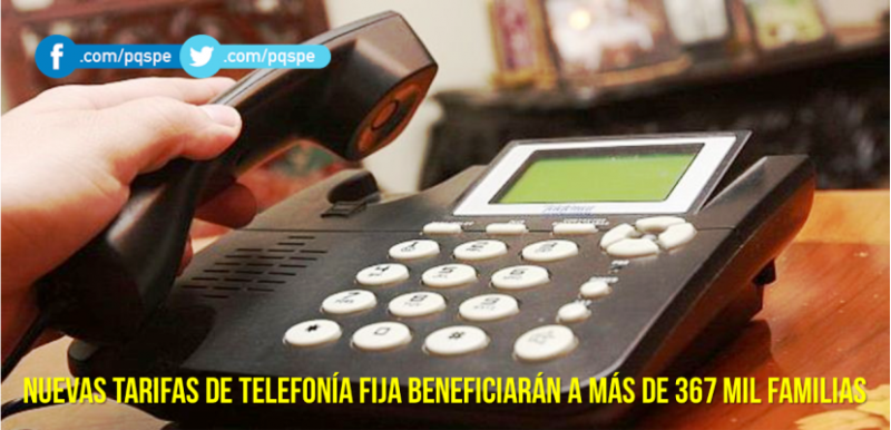 nuevas tarifas de telefonía fija