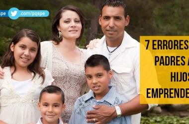 niños, emprendedores, padres, errores