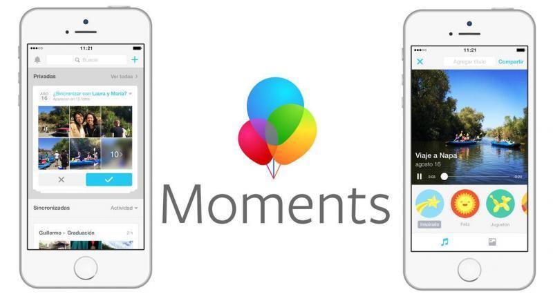 Moments app Facebook fotos