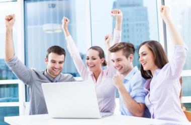 trabajadores, felicidad, motivación