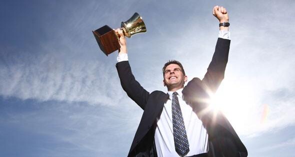 Emprendedores, actitudes positivas, triunfo