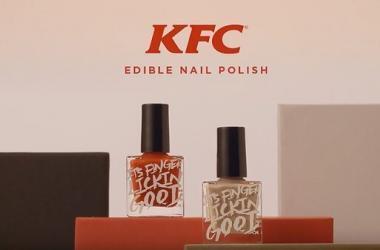 KFC, innovación, esmaltes comestibles, Japón, fast food