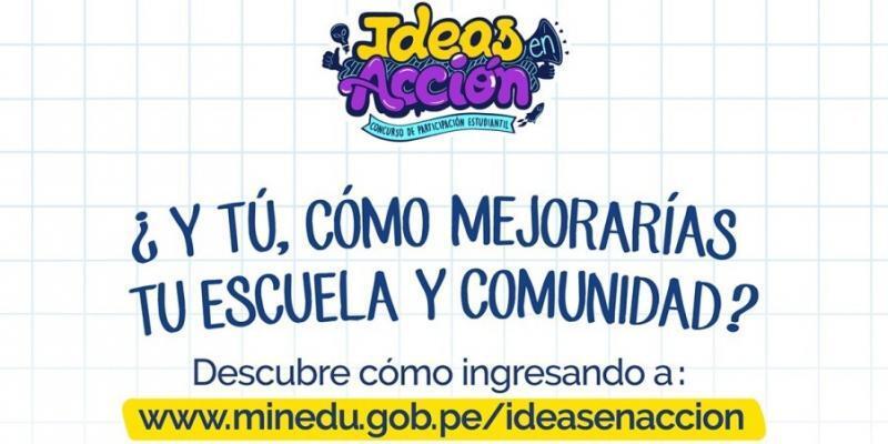 escolares emprendedores, escolares, minedu, Ideas en Acción
