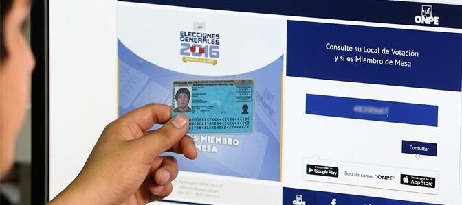 elecciones 2016, segunda vuelta, local de votación, ONPE
