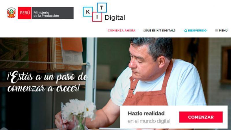 El Kit Digital es una plataforma del Ministerio de la Producción diseñada para impulsar el crecimiento de la MYPE a través de la digitalización. (Foto: Produce)