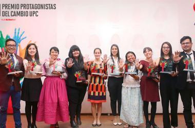 El Premio Protagonistas del Cambio reconoce y potencia el liderazgo y espíritu innovador de los jóvenes emprendedores sociales que están transformando el país. (Foto: UPC)