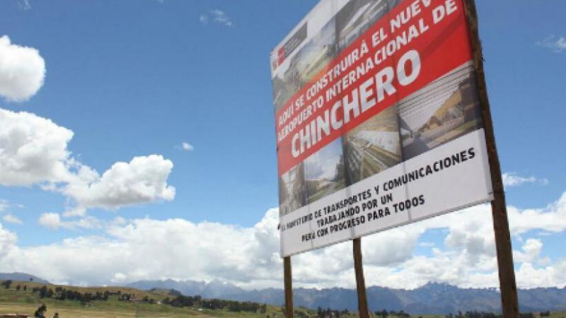 El Aeropuerto Internacional de Chinchero es un aeropuerto en construcción que se ubicará en Chinchero, Cusco. (Foto: Andina)
