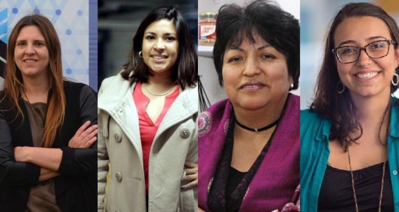 Foto: Carolina Botto, fundadora de JoinnUs; Amparo Nalvarte. Fundadora de Culqi; Aquilina Palomino, creadora de Forticao; Mariana Costa, fundadora de Laboratoria.