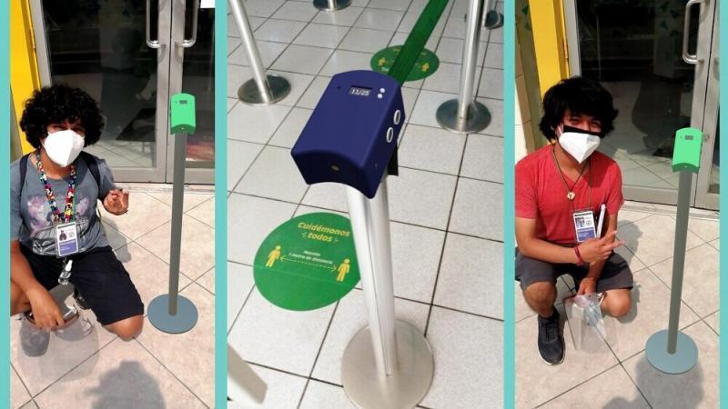 Qhatu: Dispositivo creado por estudiantes que mide la temperatura y aforo en centros comerciales