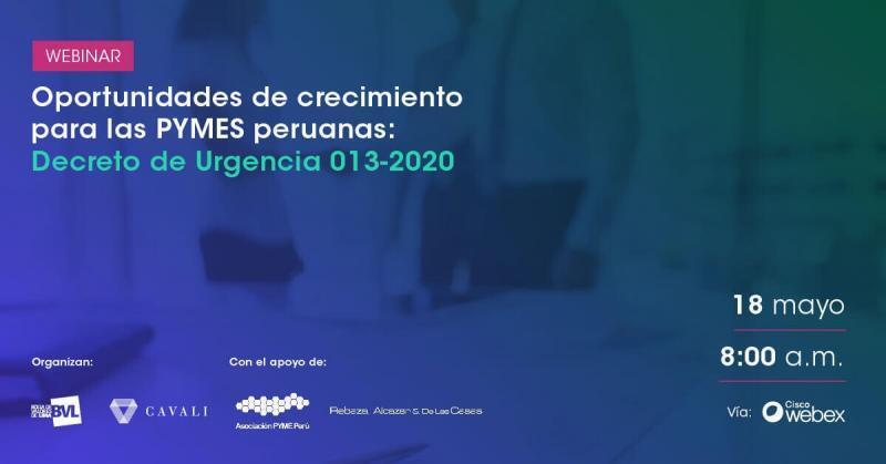 """Webinar: """"Oportunidades de crecimiento para las pymes peruanas"""""""
