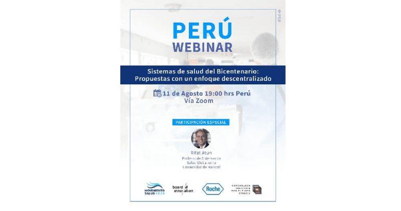 Especialista de Harvard propondrá soluciones para el sistema de salud en Perú