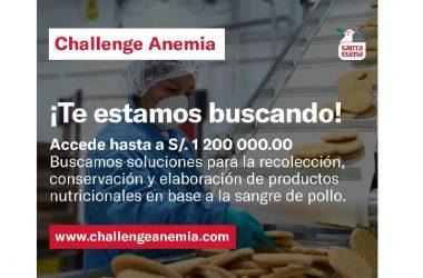 ¡Participa del Challenge Anemia! Concurso busca innovaciones para hacer productos nutricionales con sangre de pollo