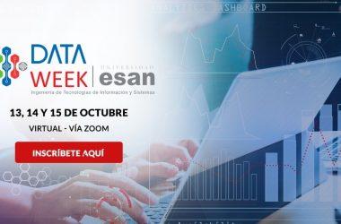 Participa en evento Data Week y aprende sobre la ciencia de datos para crear nuevos productos